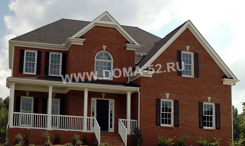 дом из красного керамического кирпича фото